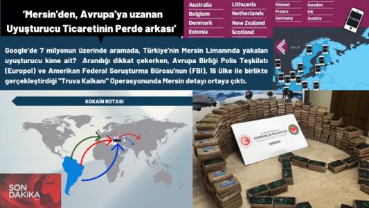Türkiye'nin Mersin Limanında yakalan uyuşturucu kime ait?