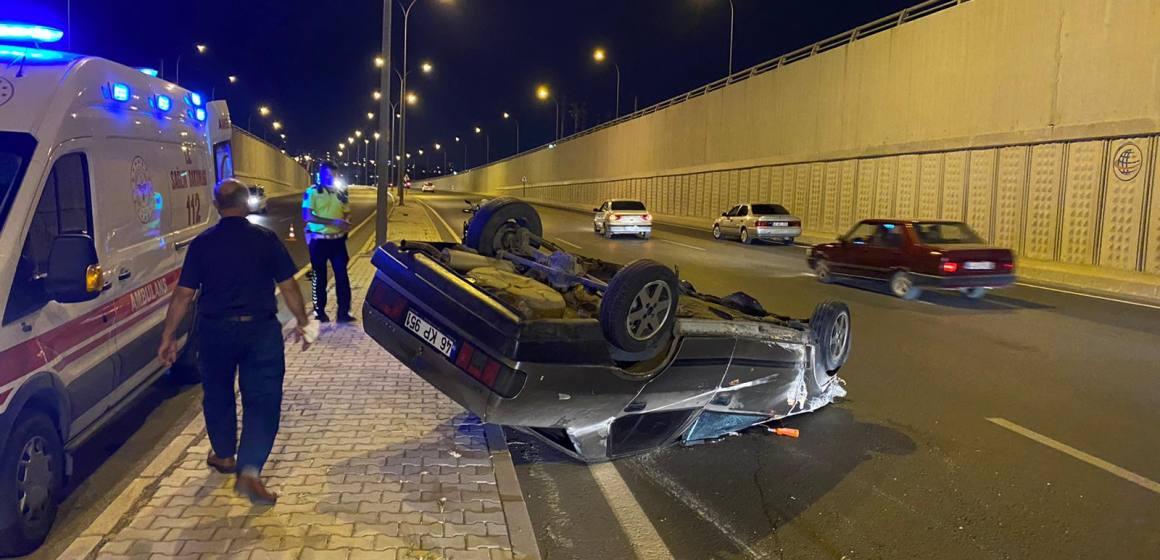 Kahramanmaraş'ta takla atan otomobil de 2 kişi yaralandı