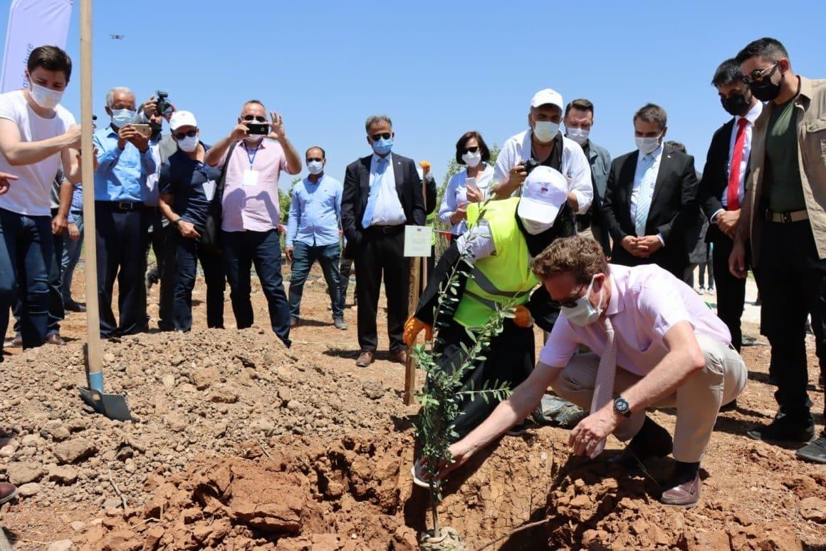 AB Büyükelçi Nikolaus Meyer-Landrut, Şanlıurfa'da ağaç dikti