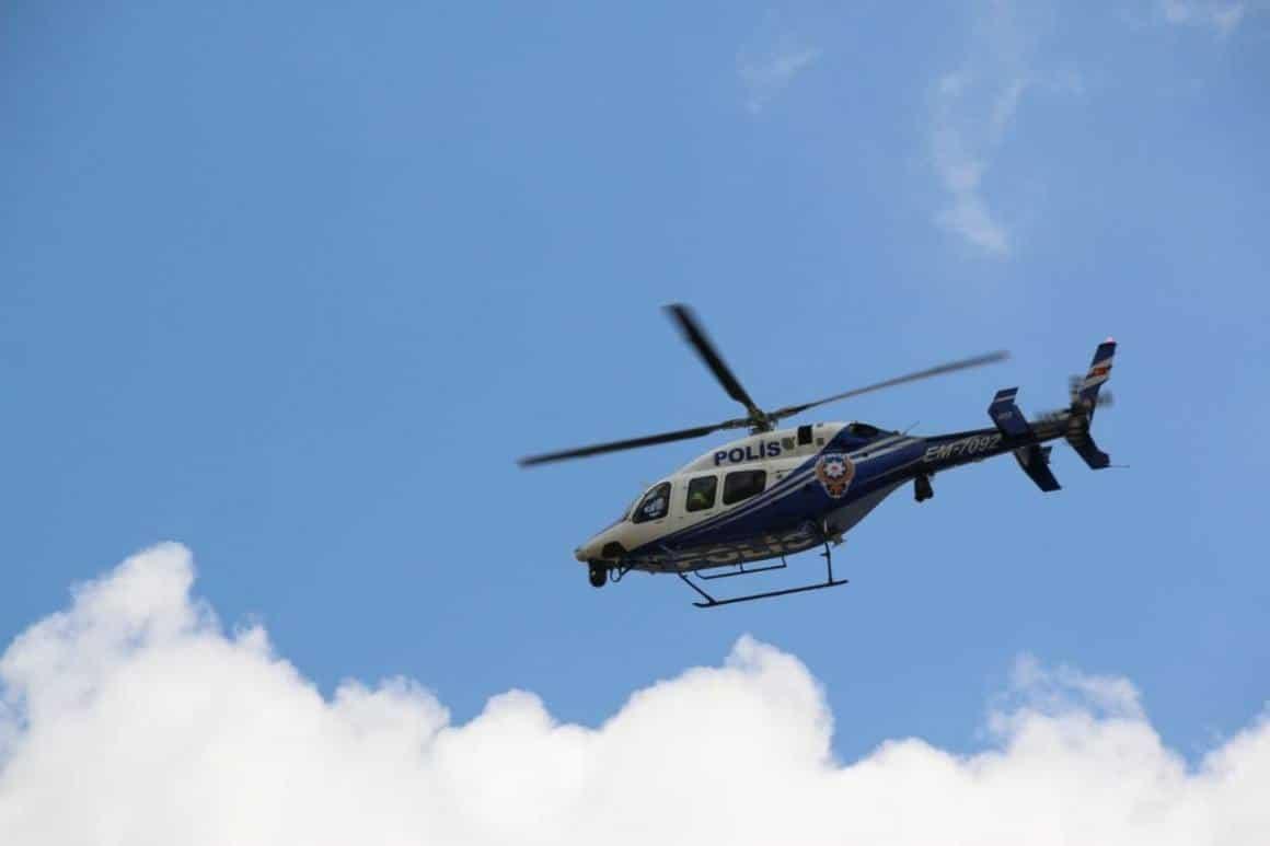 Aksaray'da helikopter destekli uygulama