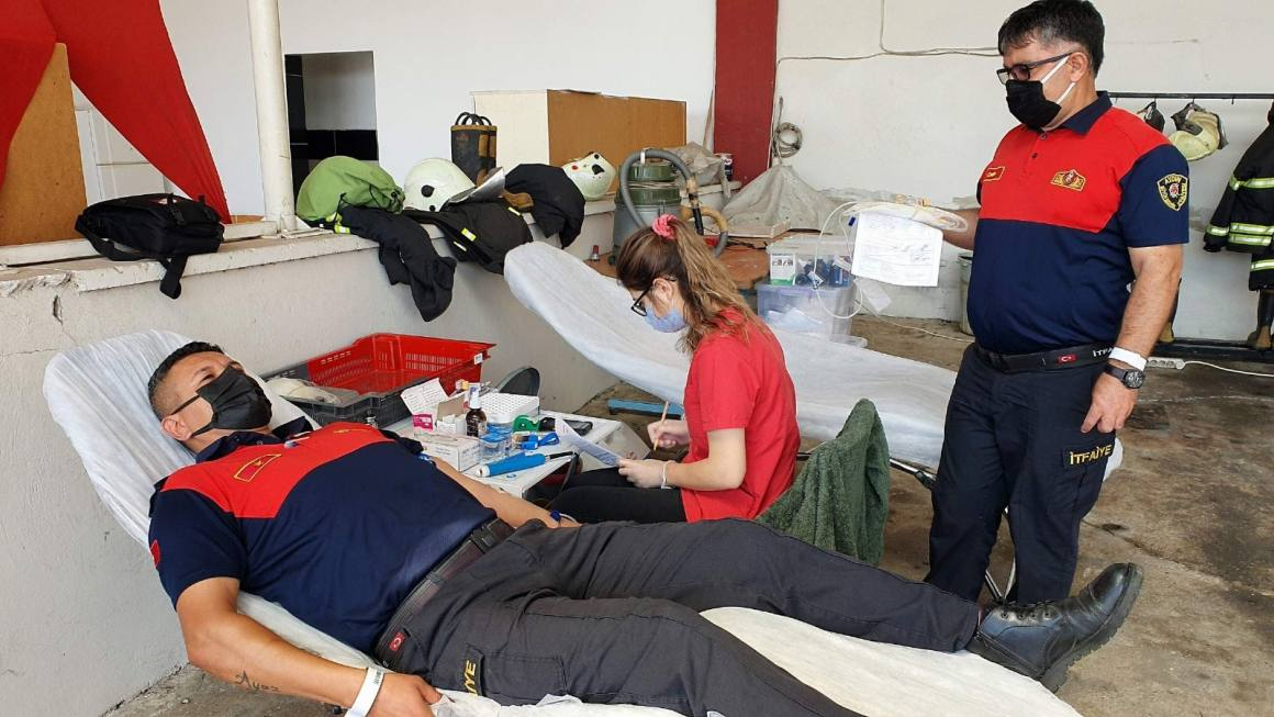 Alev savaşçılarının kan bağışları sürüyor