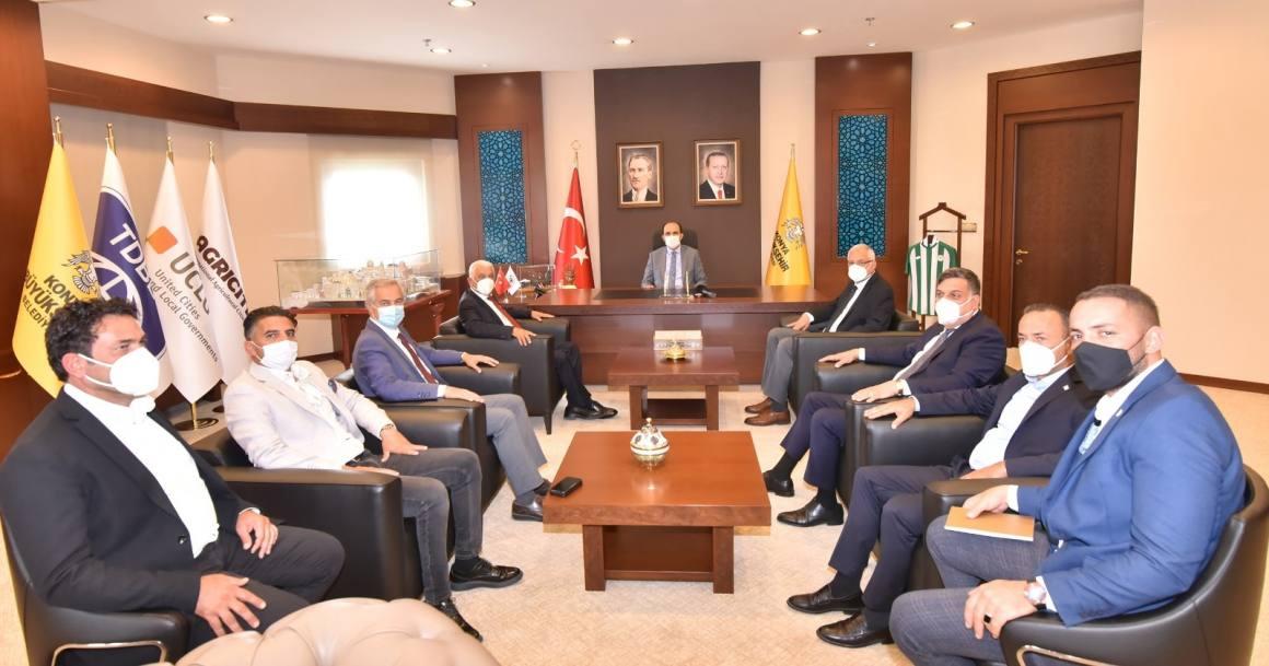 Başkan Altay Kuzey Kıbrıslı belediye başkanlarıyla bir araya geldi