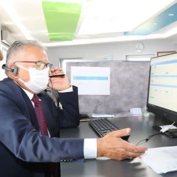 Başkan Büyükkılıç, KASKİ Çağrı Merkezi'nde talepleri dinledi