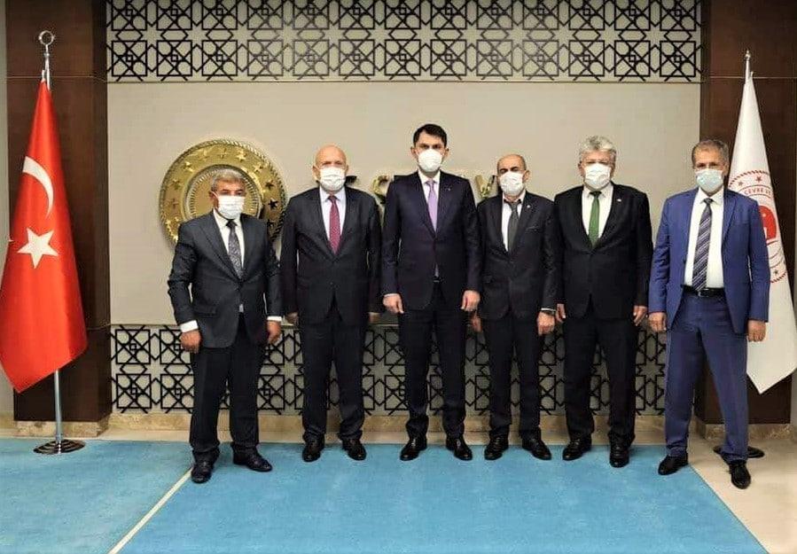Başkanı Pekmezci'den Bakan Kurum'a ziyaret