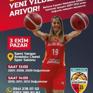 Bellona Kayseri Basketbol, yeni yıldızlarını arıyor