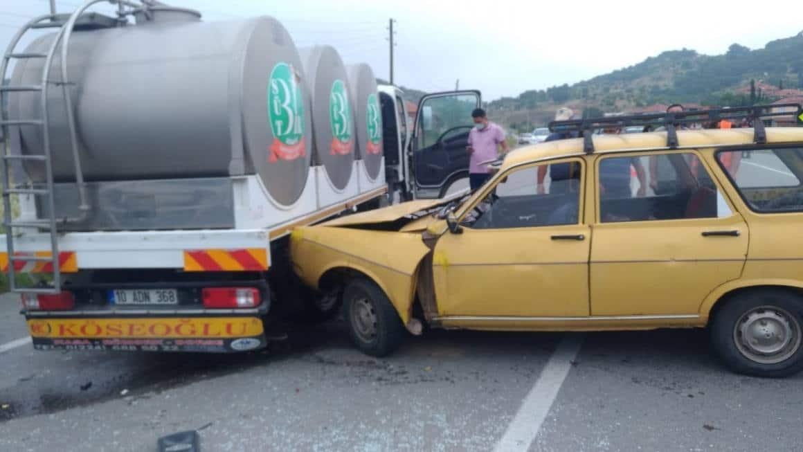Bigadiç'te trafik kazası: 1 ölü, 1 yaralı