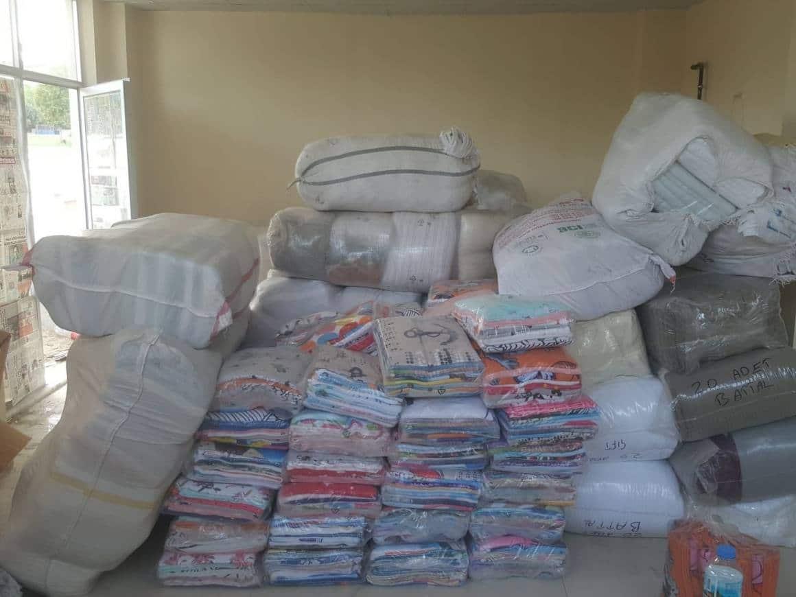 Denizli'de 300 bin TL değerindeki tekstil malzemeleri ele geçirildi