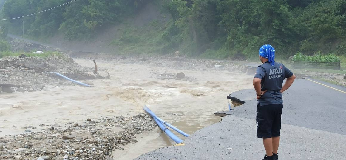 Düzce'de metrekareye 393,4 kilogram yağış düştü