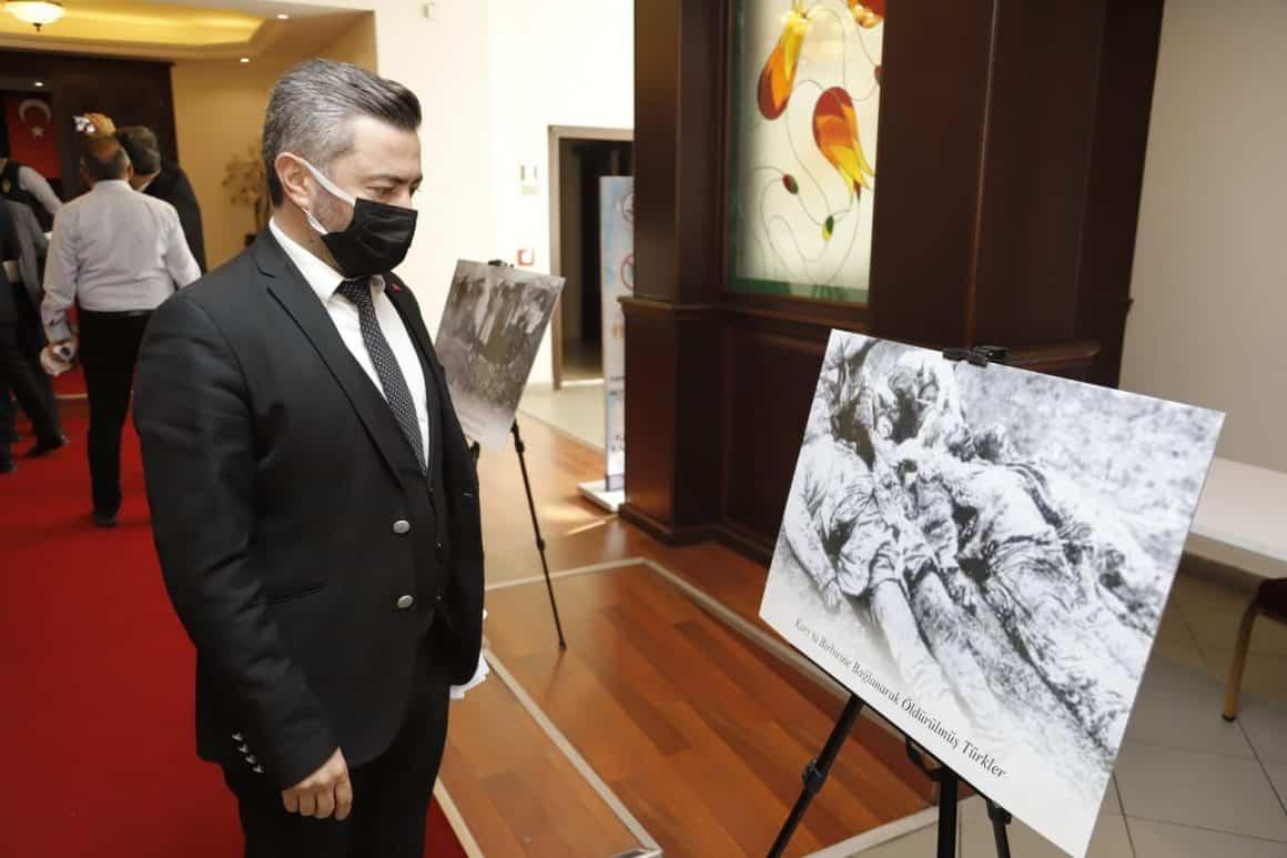 Ermeni çetelerinin mezalimi fotoğraflarla sergilendi