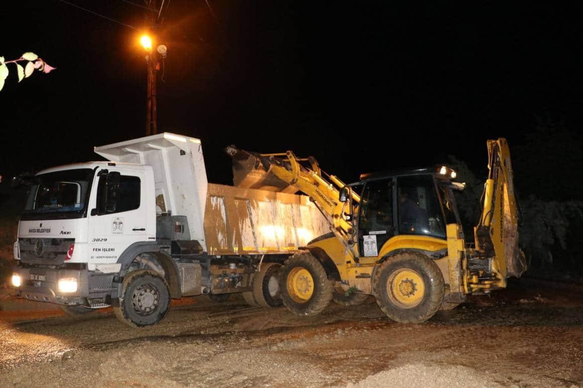 Havza'da sağanak: 4 mahalle çamurla kaplandı