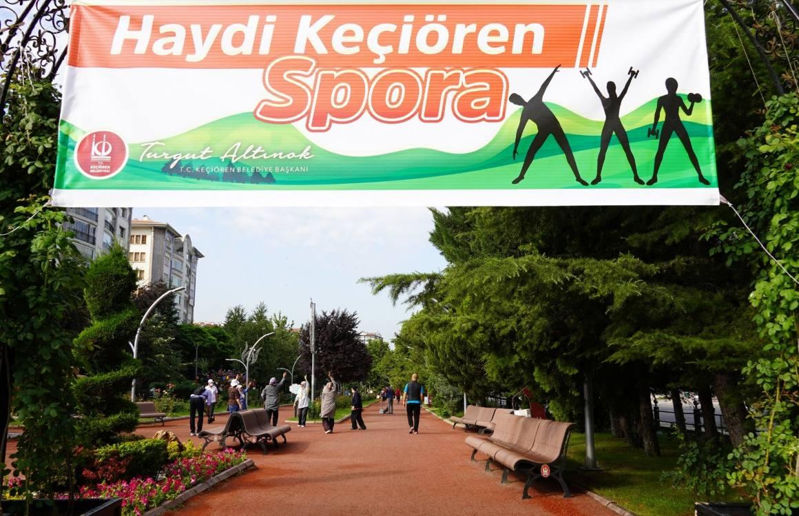 'Haydi Keçiören Spora' sloganıyla Keçiören'de spor aktiviteleri yoğun ilgi görüyor
