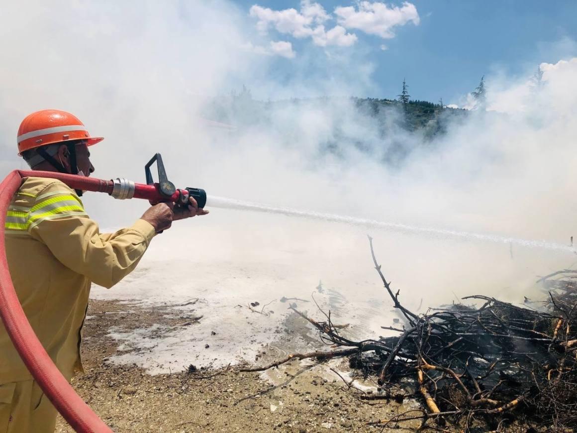 Isparta'da orman yangını tatbikatı