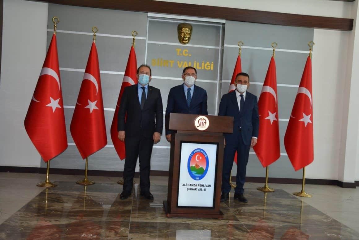 Kamu Başdenetçisi Malkoç, Vali Hacıbektaşoğlu ile bir araya geldi