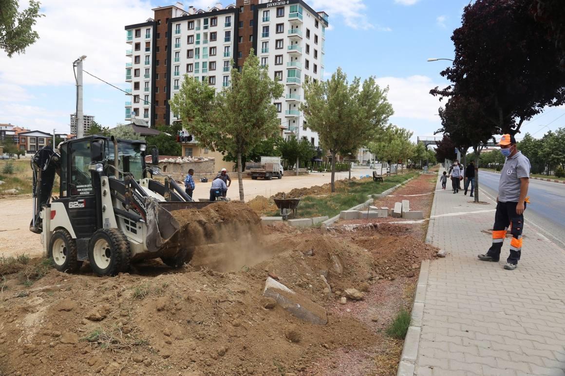 Karaman Belediyesinden asfalt ve çevre düzenlemesi