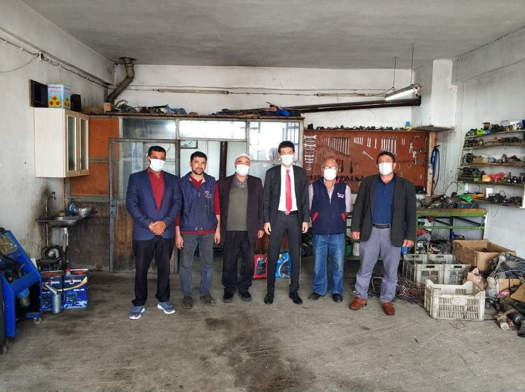 Kaymakam Kaçmaz'dan Küçük Sanayi Sitesi esnafına ziyaret