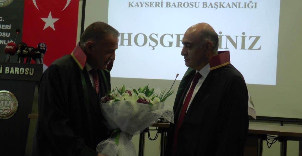 Kayseri Barosu'nda devir teslim töreni