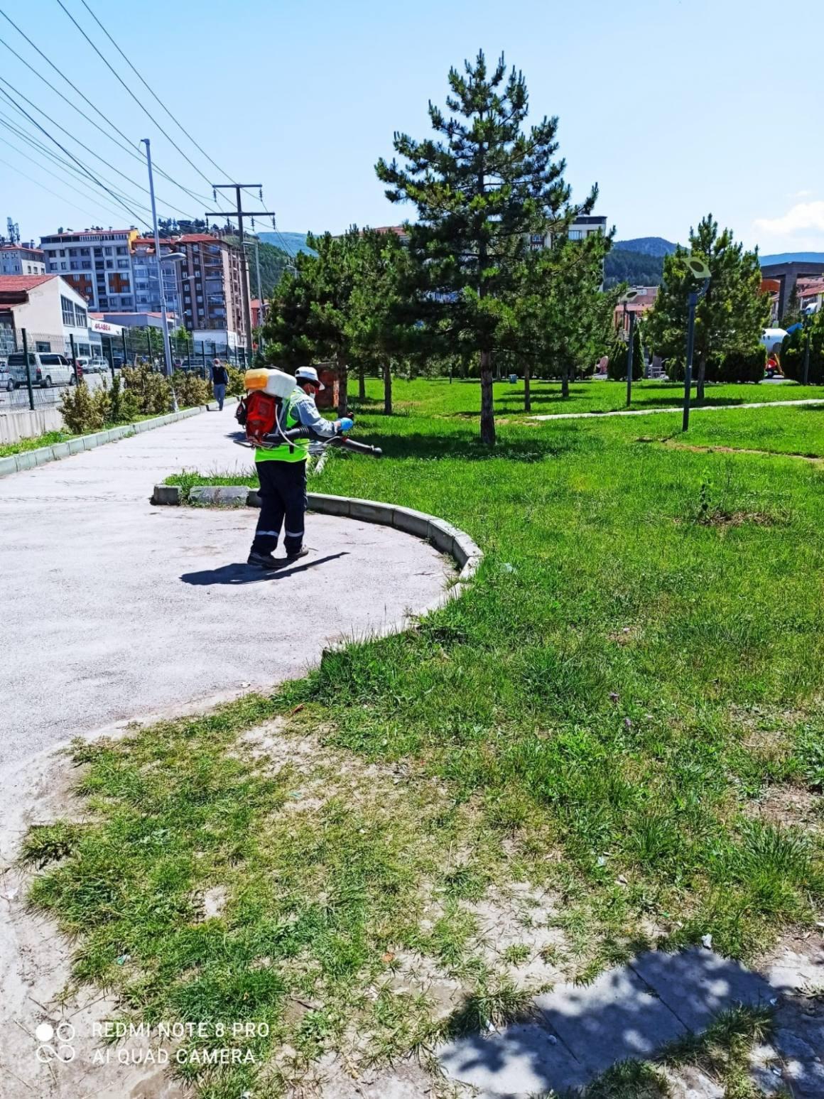 Kent Park ilaçlandı