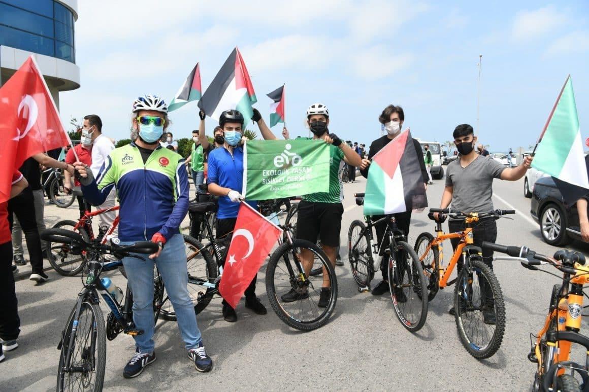 Kudüs için pedalladılar