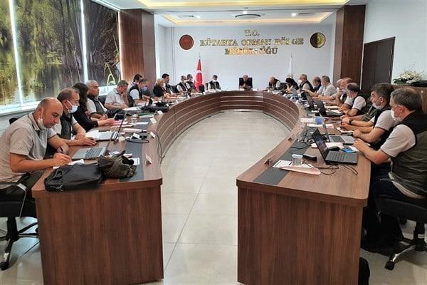 Kütahya Orman Bölge Müdürlüğünde değerlendirme toplantısı