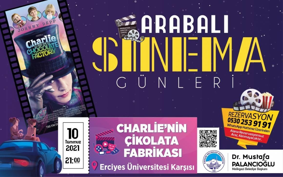Melikgazi'de 'Arabalı sinema günleri' başlıyor