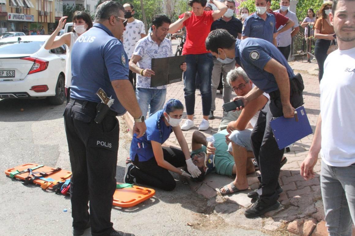 (ÖZEL) İzindeki polis memuru otomobil ile çarpıştığı kazada yaralandı