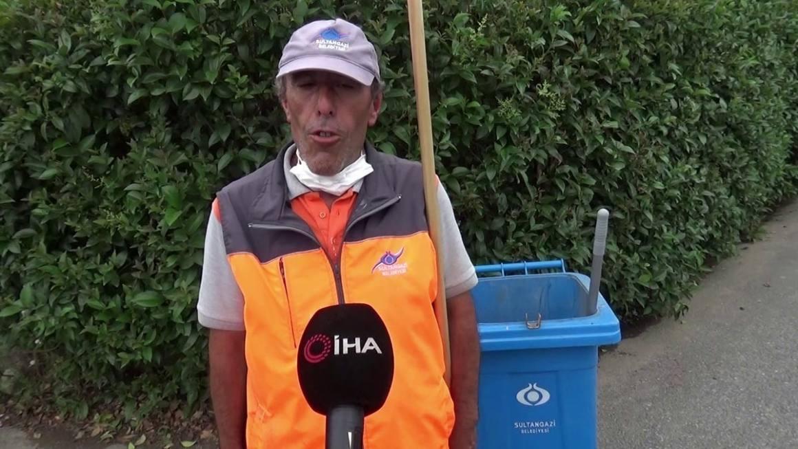 (ÖZEL) Temizlik görevlisi bulduğu 5 bin lirayı sahibine teslim etti