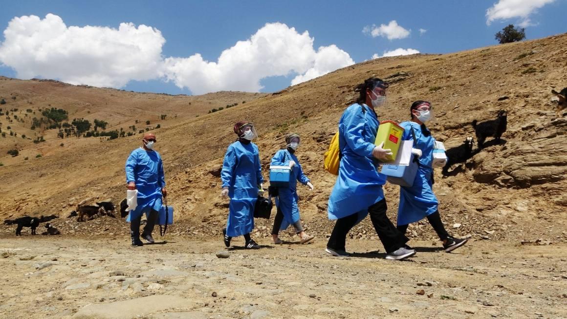 Patika yolları aşan sağlıkçılar, berivanlara korona virüs aşısı ulaştırdı