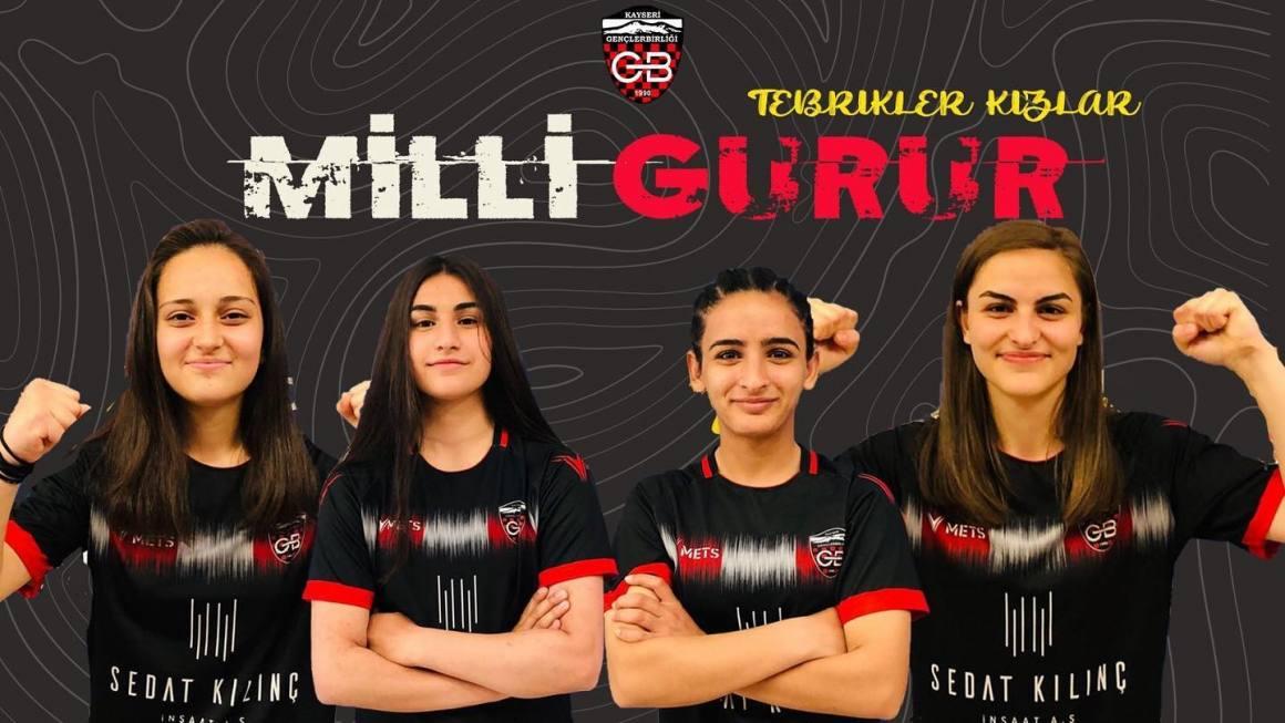 Sedat Kılınç İnşaat Kayseri Gençlerbirliği'nden 4 oyuncu milli takıma çağrıldı