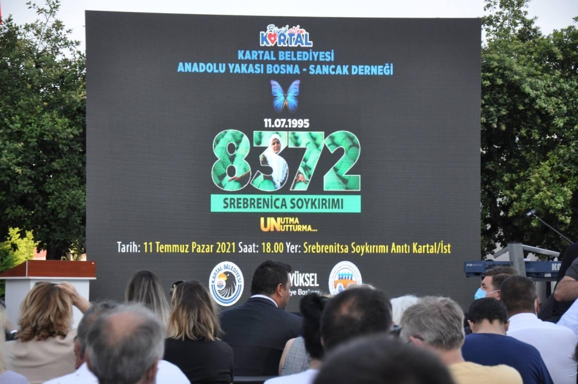 Srebrenitsa Katliamı'nın kurbanları Kartal'da anıldı
